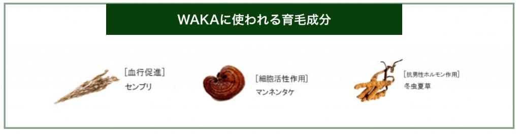 WAKAに使われている育毛成分