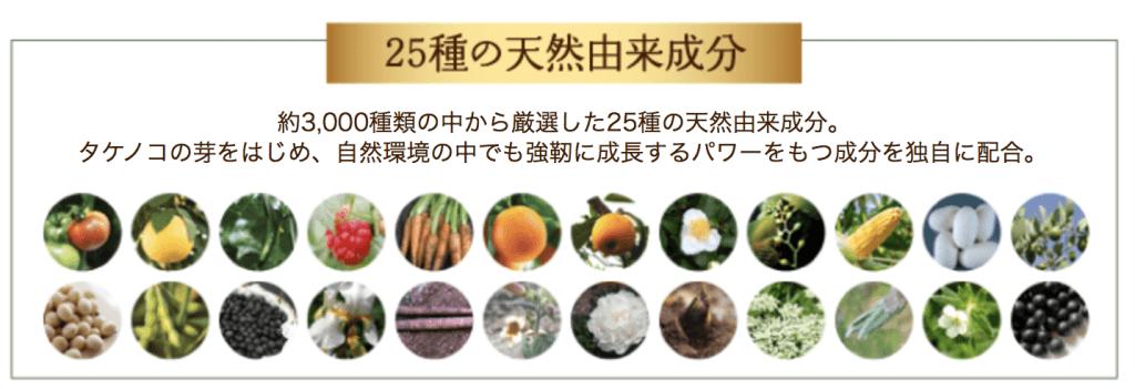 ハリモアに含まれる25種類の天然由来成分