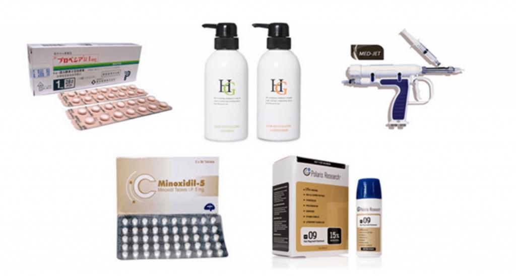 HARG療法、内服薬、外用薬、シャンプー、コンディショナーのイメージ