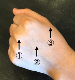 頭皮の固さを手の硬さで確認するチェックポイント