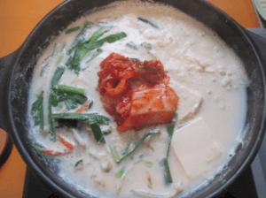 豆乳キムチ鍋のイメージ