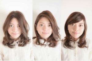 髪の分け目のイメージ