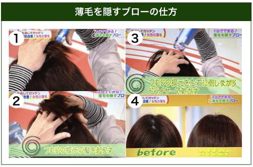 薄毛を隠すブローの仕方