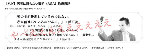 【ハゲ】医者に頼らない薄毛(AGA)治療日記