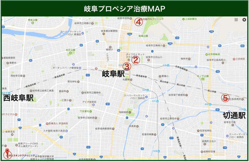 岐阜プロペシア治療MAP
