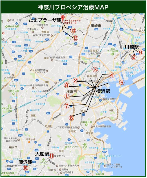 神奈川プロペシア治療MAP