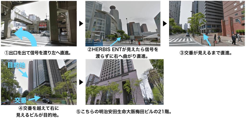 ヘアメディカル(脇坂クリニック)大阪院に迷わず辿り着くための完全MAP