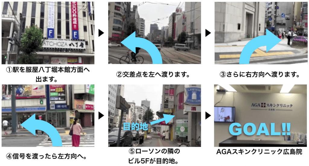 AGAスキンクリニック広島院に迷わず辿り着くための完全MAP