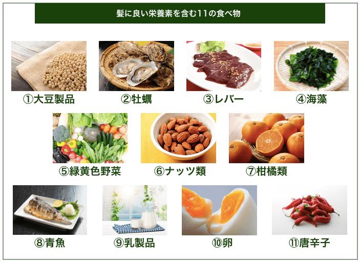 髪に良い栄養素を含む11の食べ物