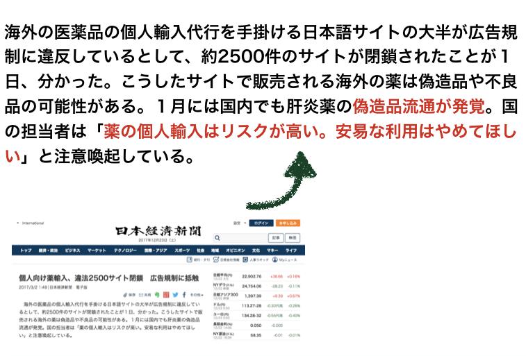 日本経済新聞から2017年3月に出されたニュース