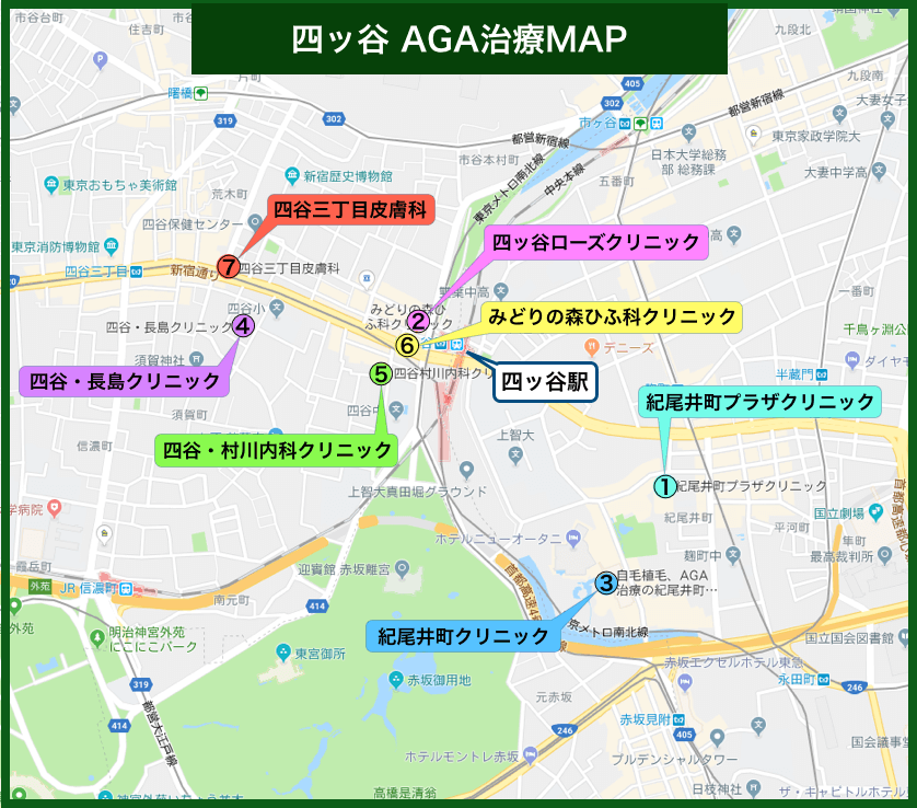 四谷AGA治療MAP