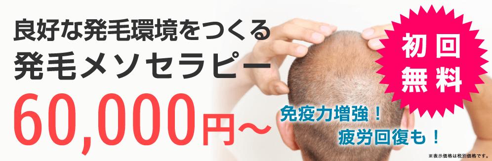 ガーデンクリニックの発毛メソセラピー