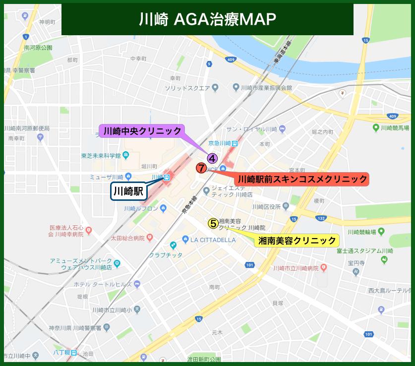 川崎AGA治療MAP