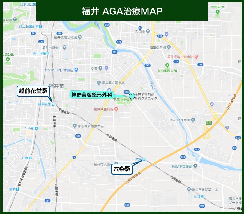 福井AGA治療MAP