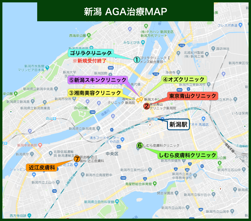 新潟AGA治療MAP