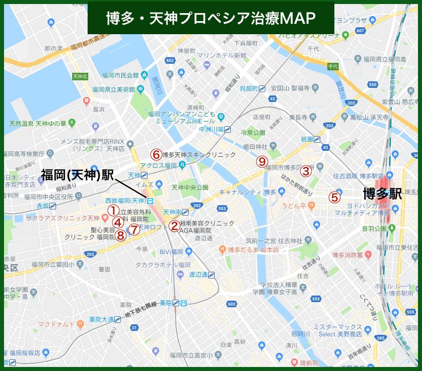 博多・天神プロペシア治療MAP