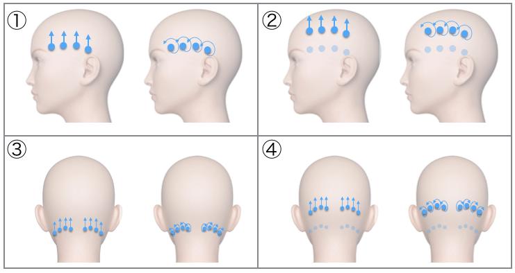 簡単頭皮マッサージの参考画像