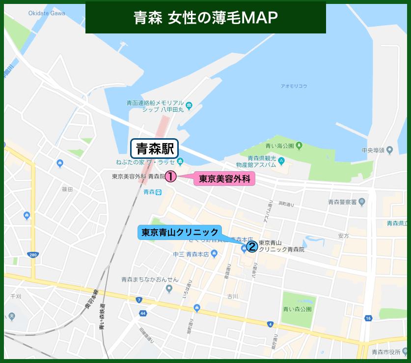 青森女性の薄毛MAP