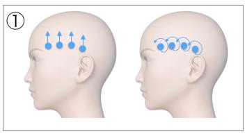 頭皮マッサージの基本動作「ステップ1」