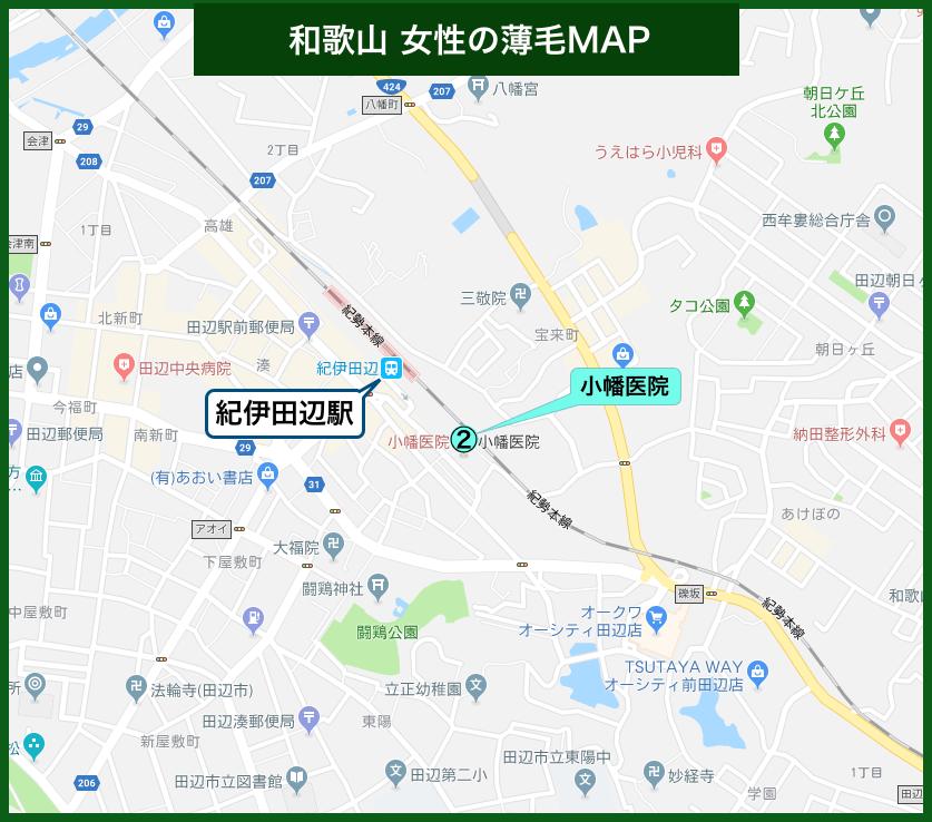 和歌山女性の薄毛MAP