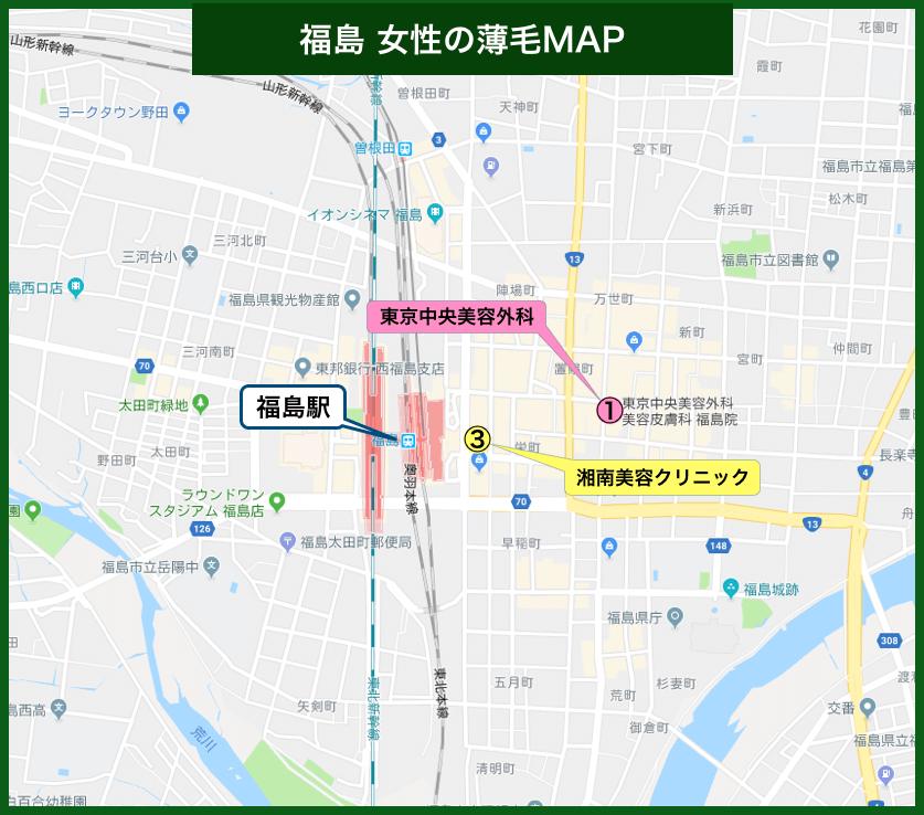 福島女性の薄毛MAP