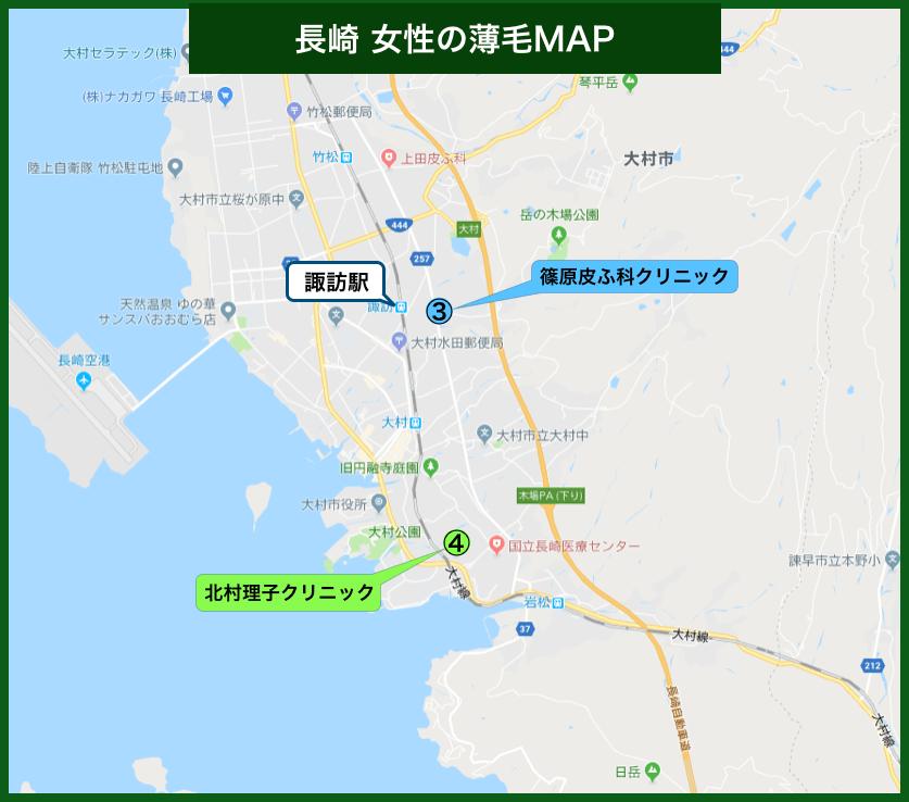 長崎女性の薄毛MAP