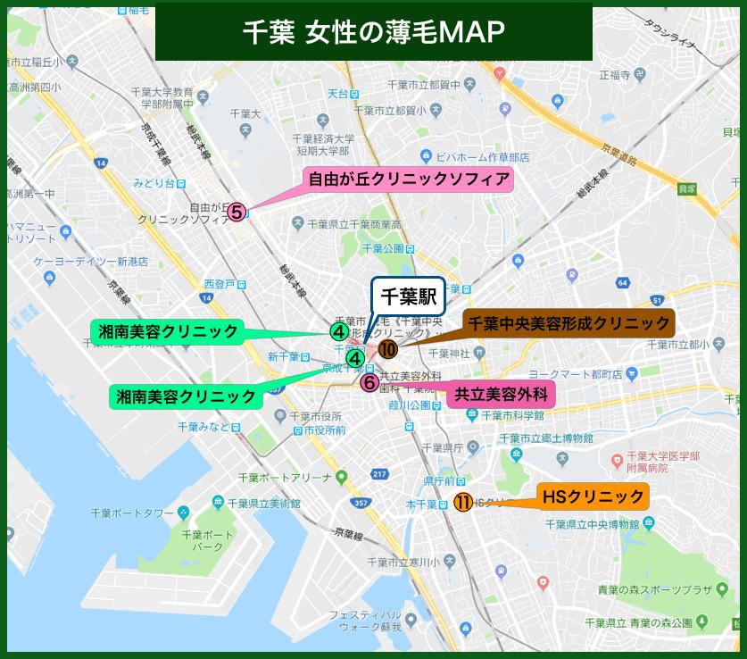 千葉女性の薄毛MAP