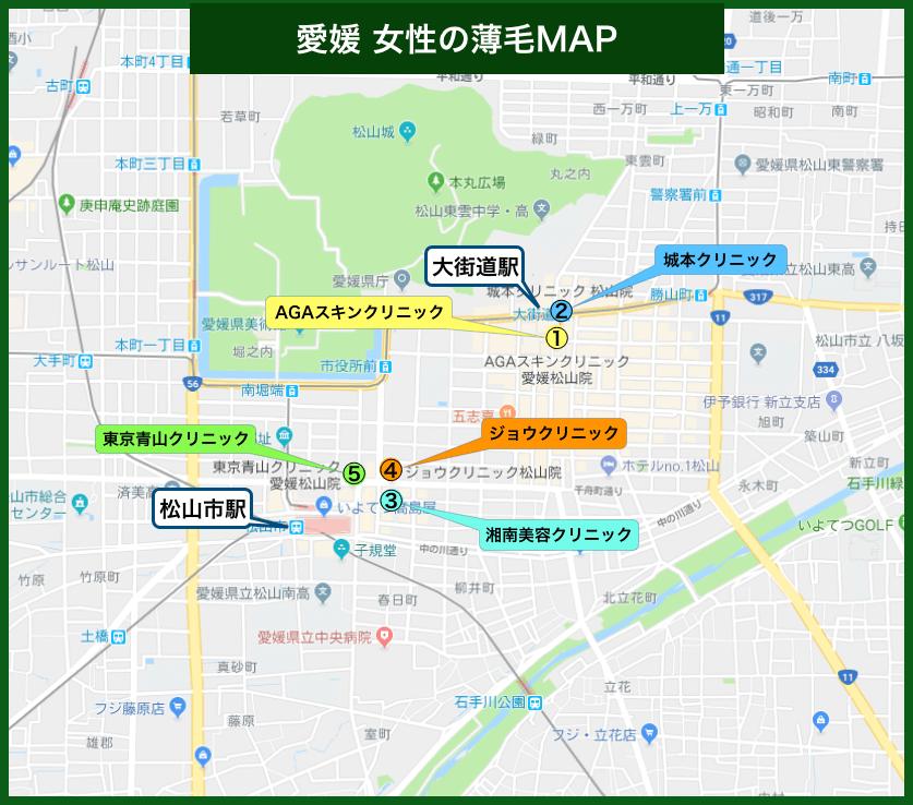 愛媛女性の薄毛MAP
