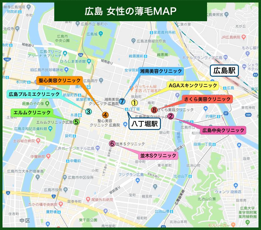 広島女性の薄毛MAP