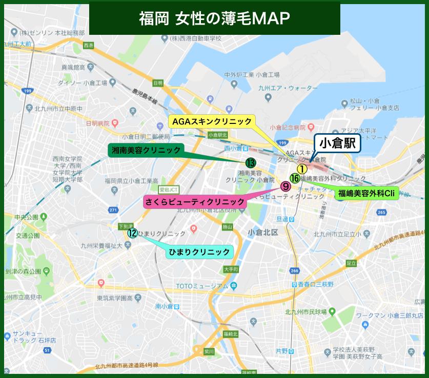 福岡女性の薄毛MAP