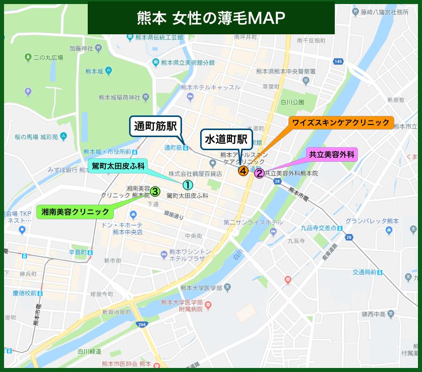 熊本女性の薄毛MAP
