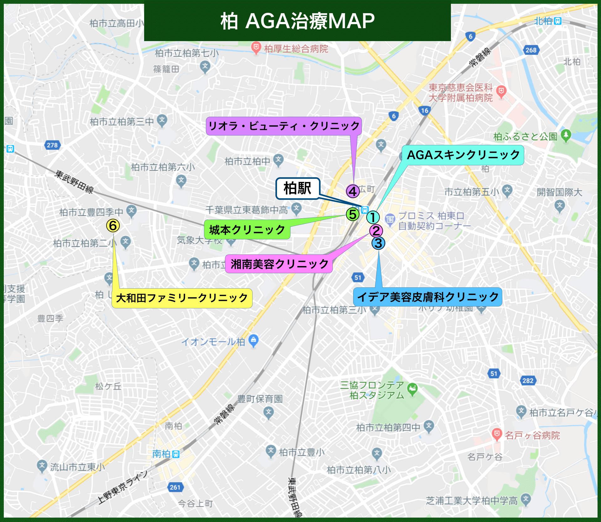 柏 AGA治療MAP(2020年版)