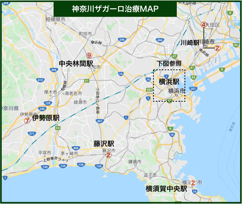 神奈川ザガーロ治療MAP(2020年版)