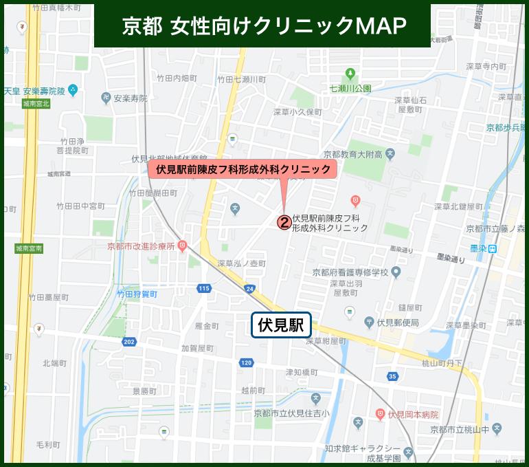 京都女性向けクリニックMAP