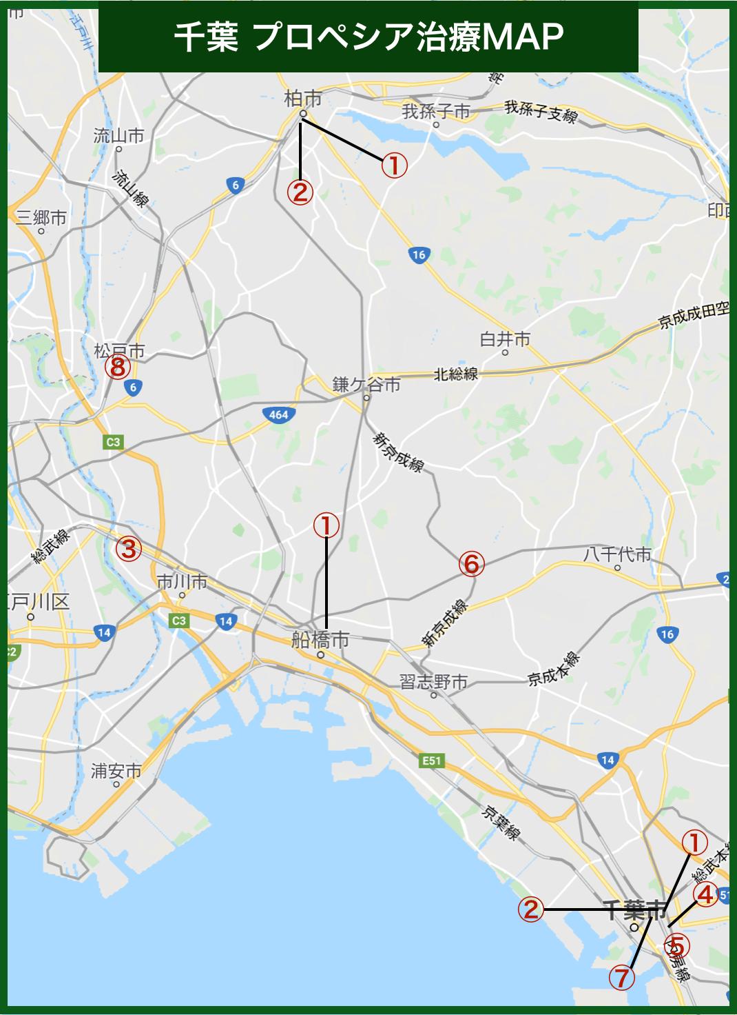 千葉プロペシア治療MAP(2020年版)