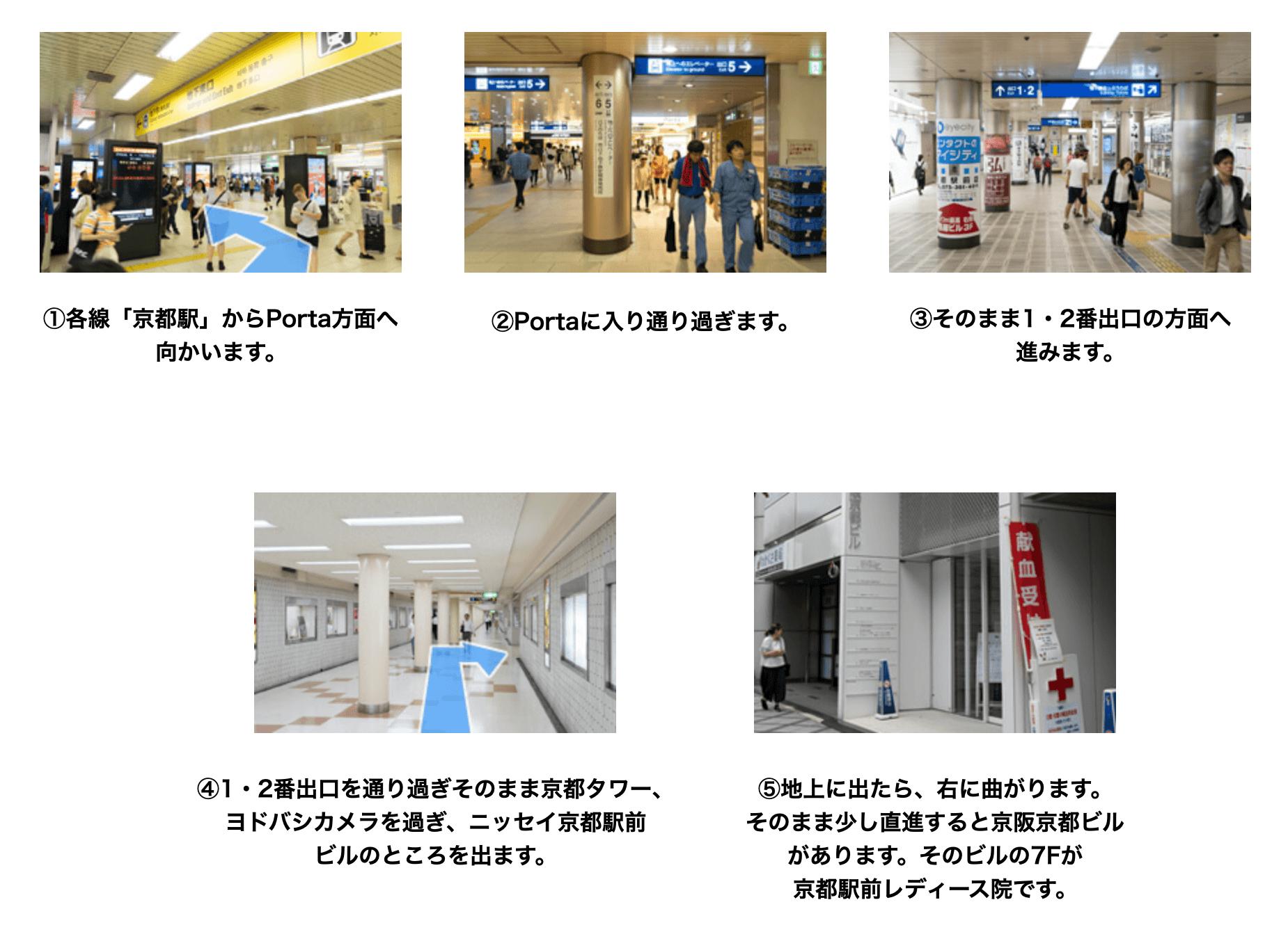 AGAスキンクリニック 京都駅前レディース院に迷わず辿り着くための完全MAP