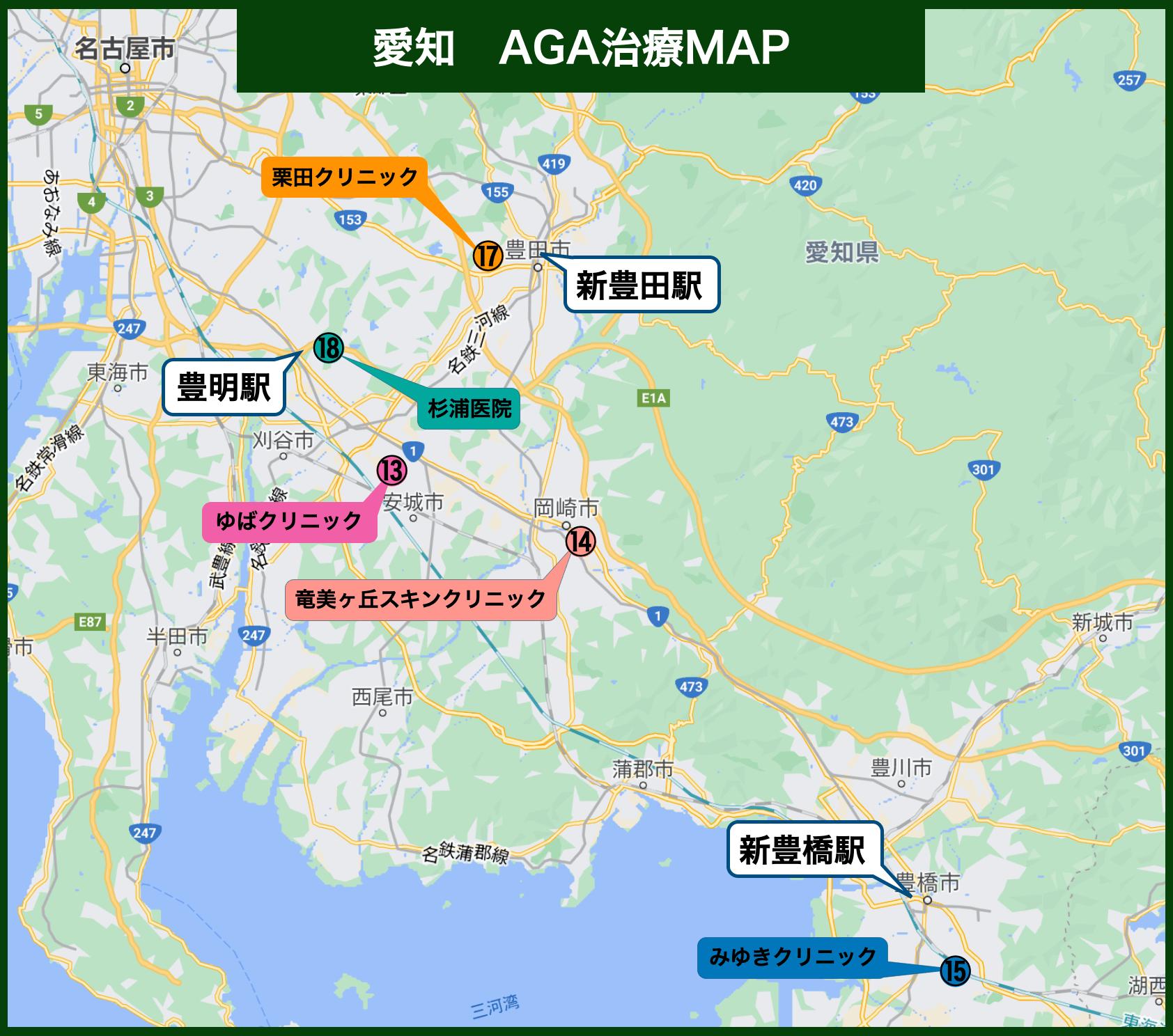 愛知AGA治療MAP
