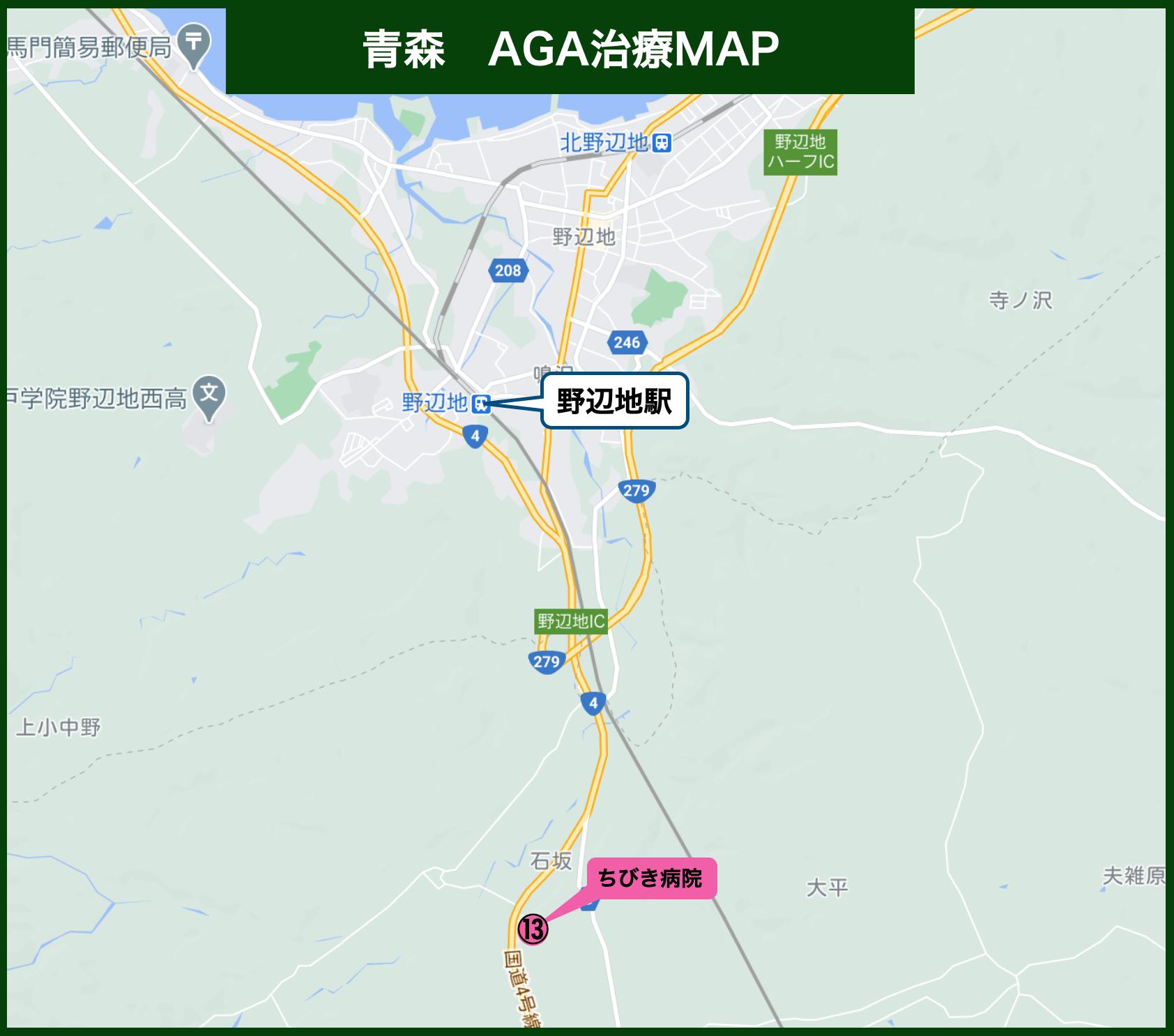 青森AGA治療MAP