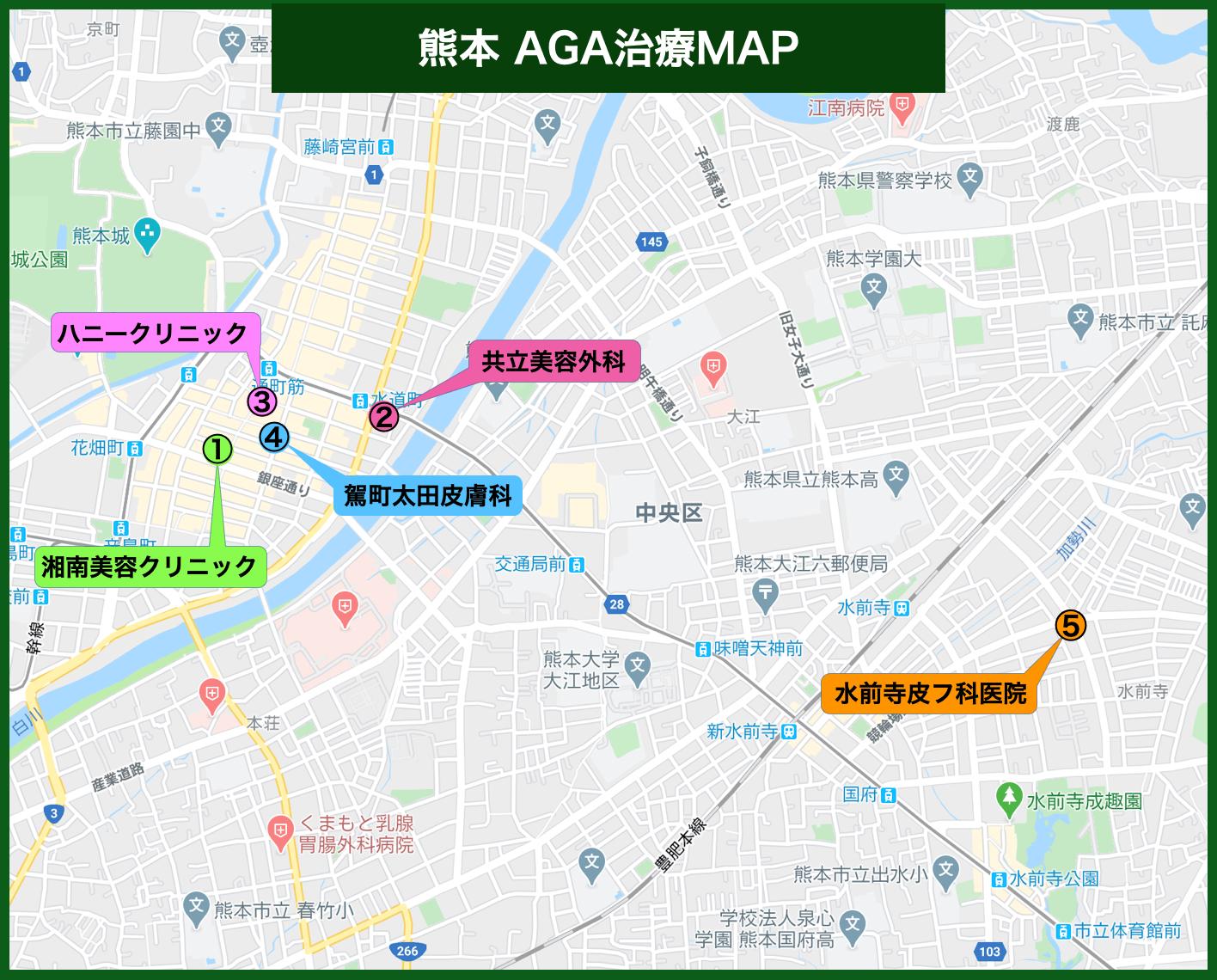 熊本 AGA治療MAP