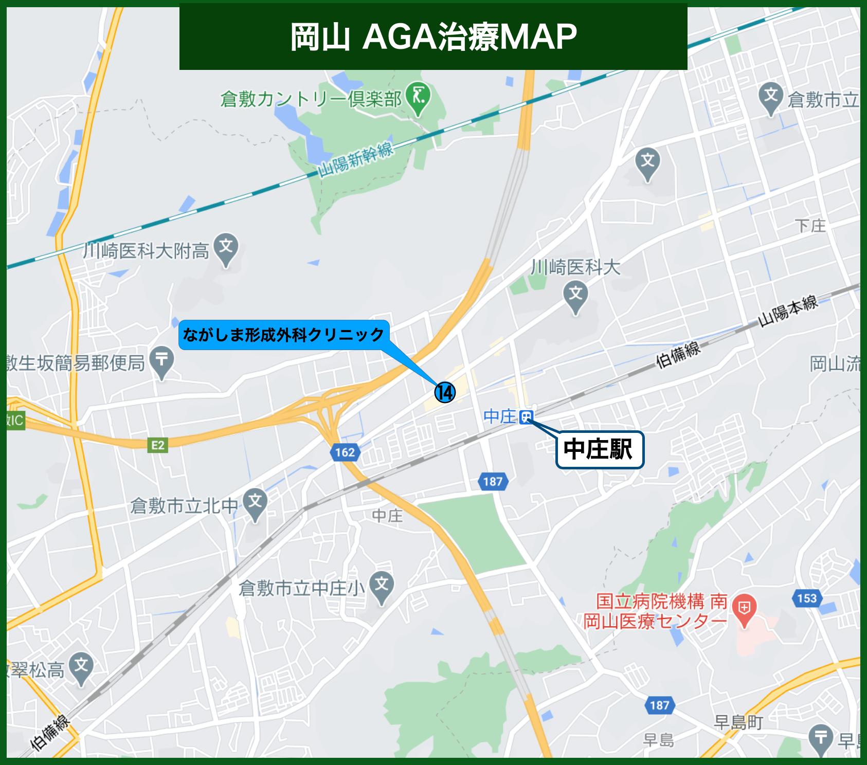 岡山AGA治療MAP