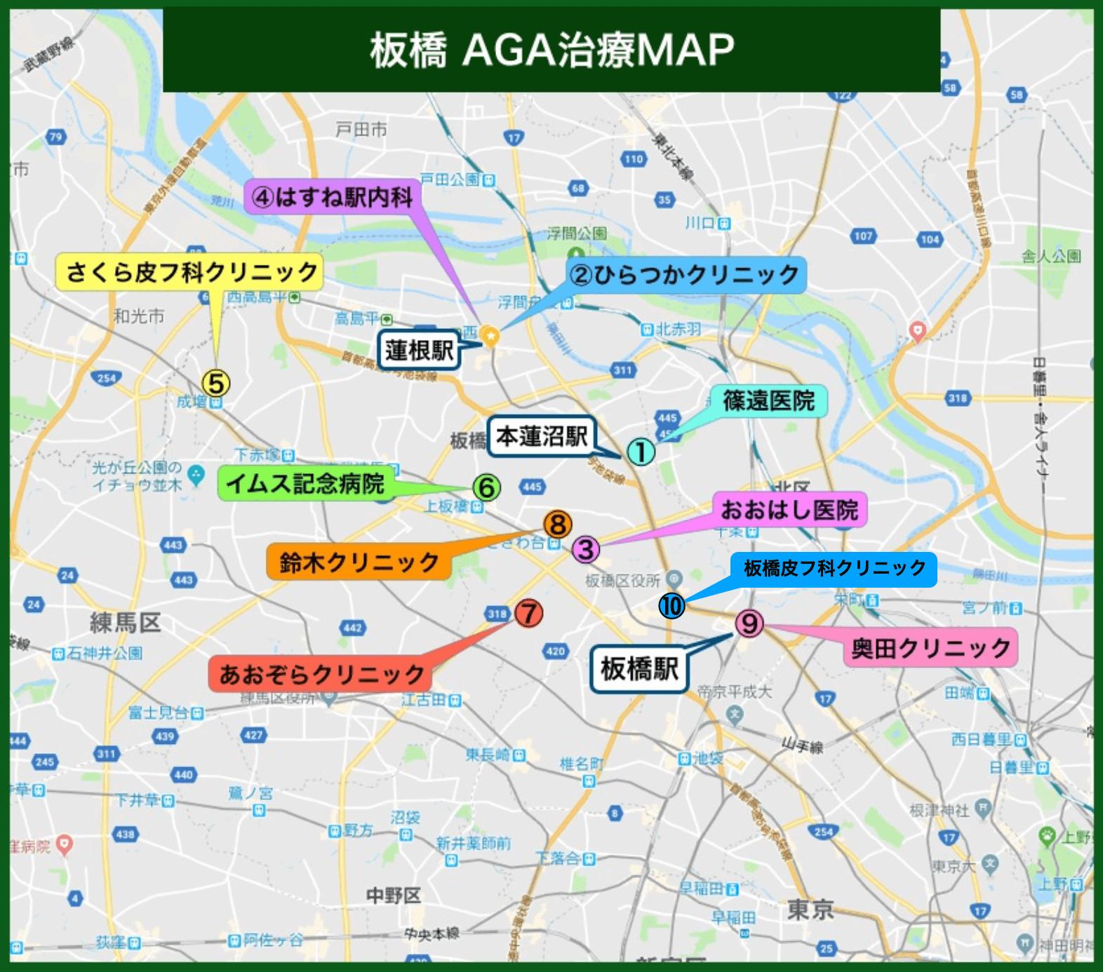板橋AGA治療MAP