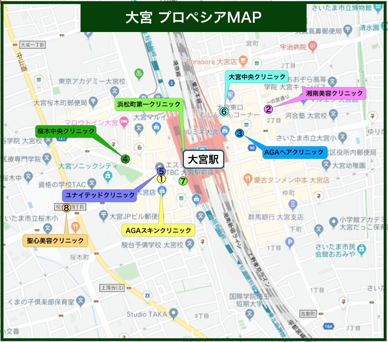 プロペシア治療マップ