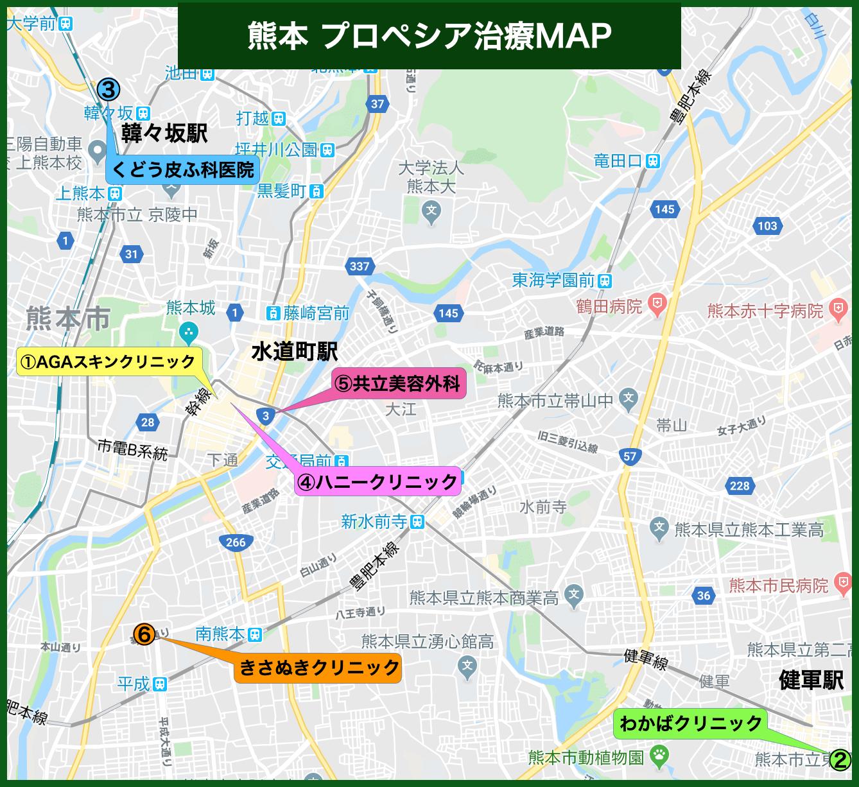 熊本 プロペシア治療MAP