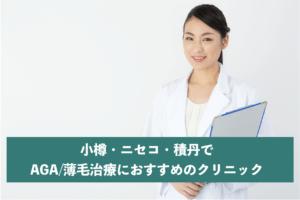 小樽・ニセコ・積丹でAGA・薄毛治療におすすめのクリニック