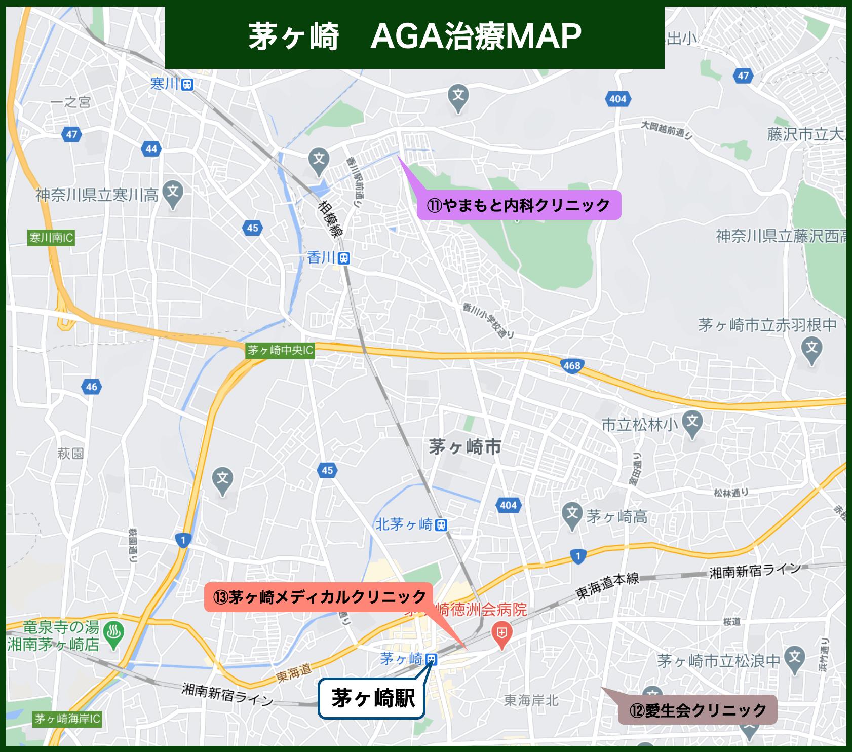 茅ヶ崎 AGA治療MAP