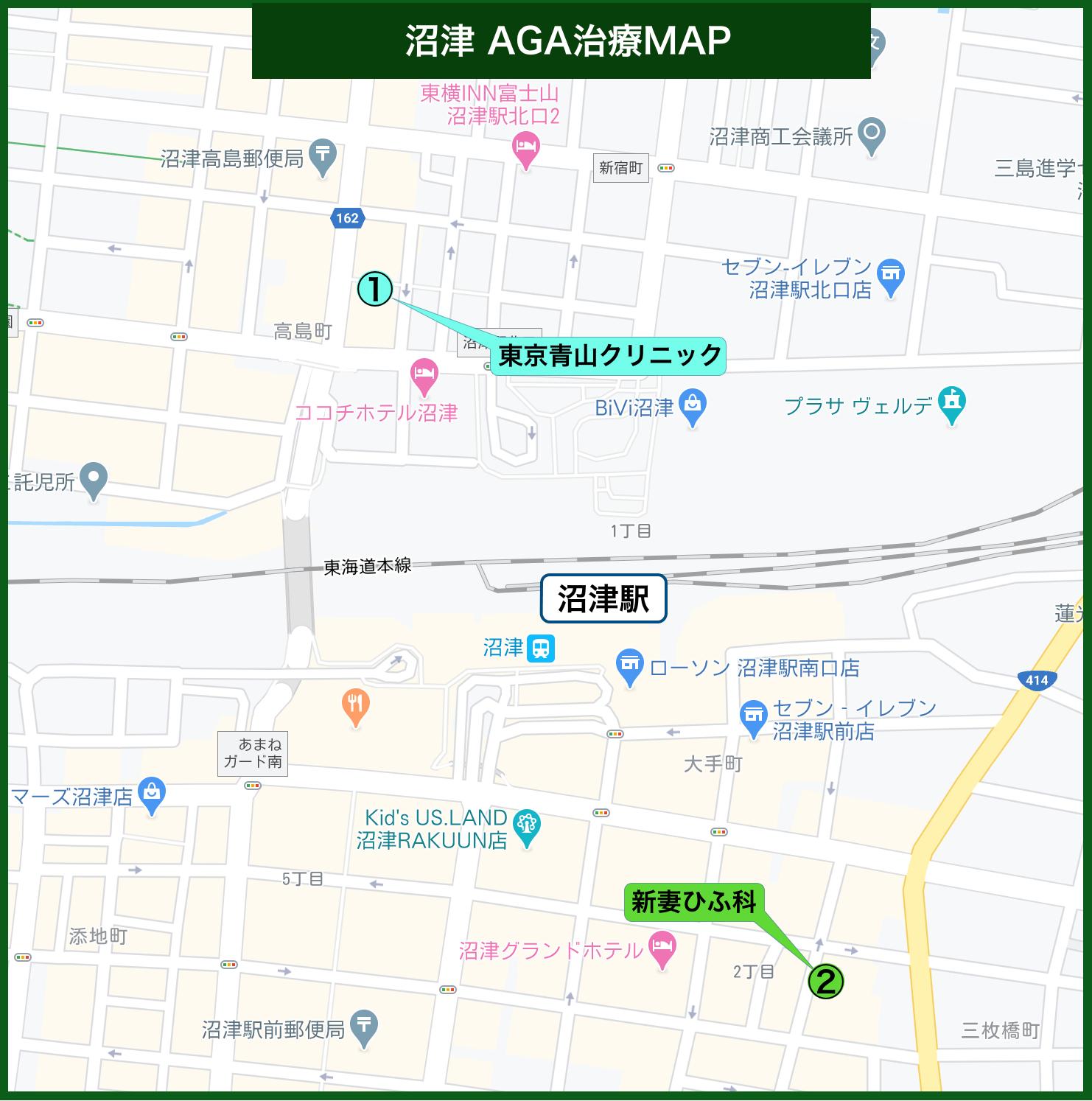 沼津 AGA治療MAP
