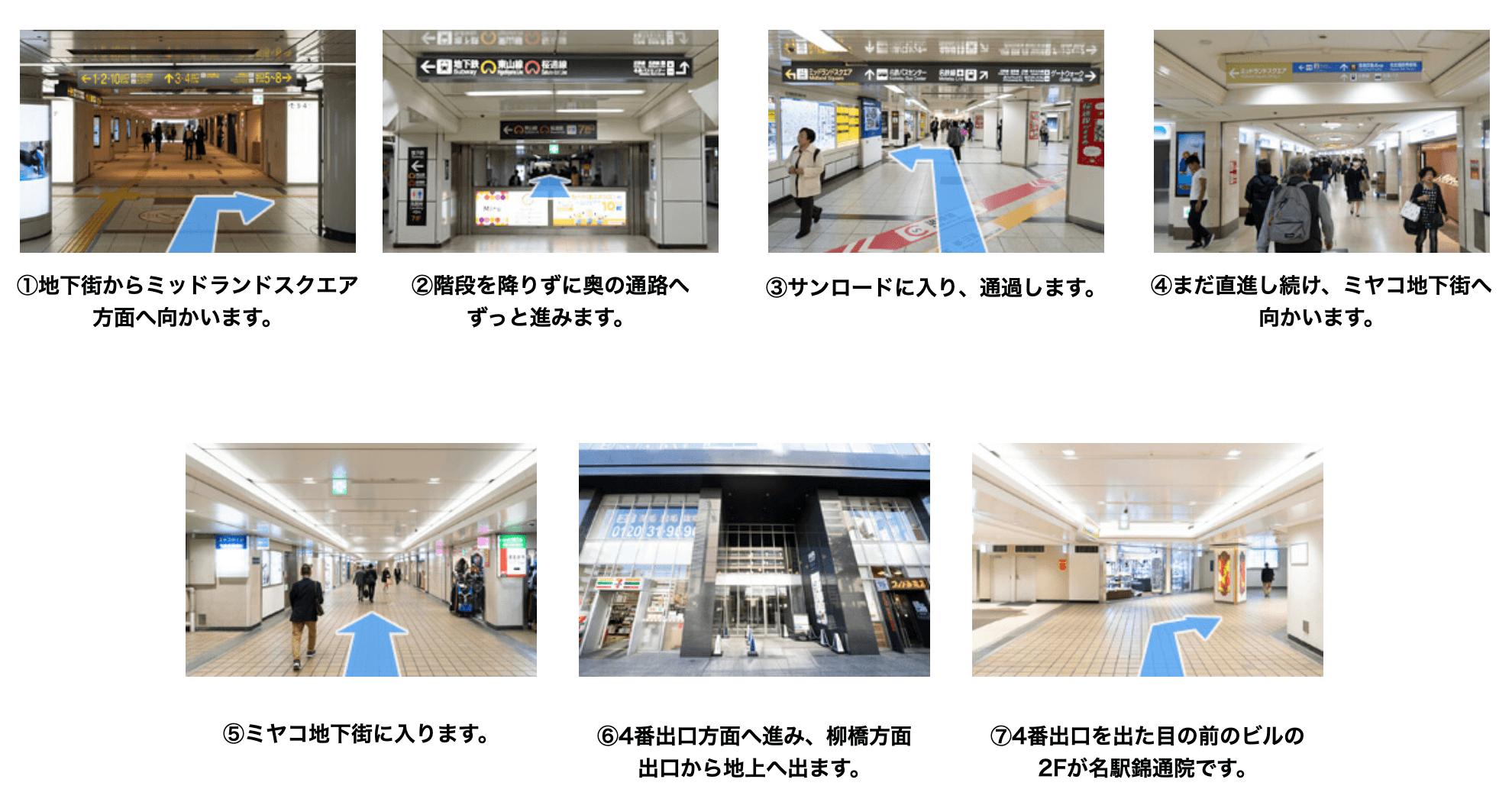 AGAスキンクリニック名駅錦通院までのアクセス方法