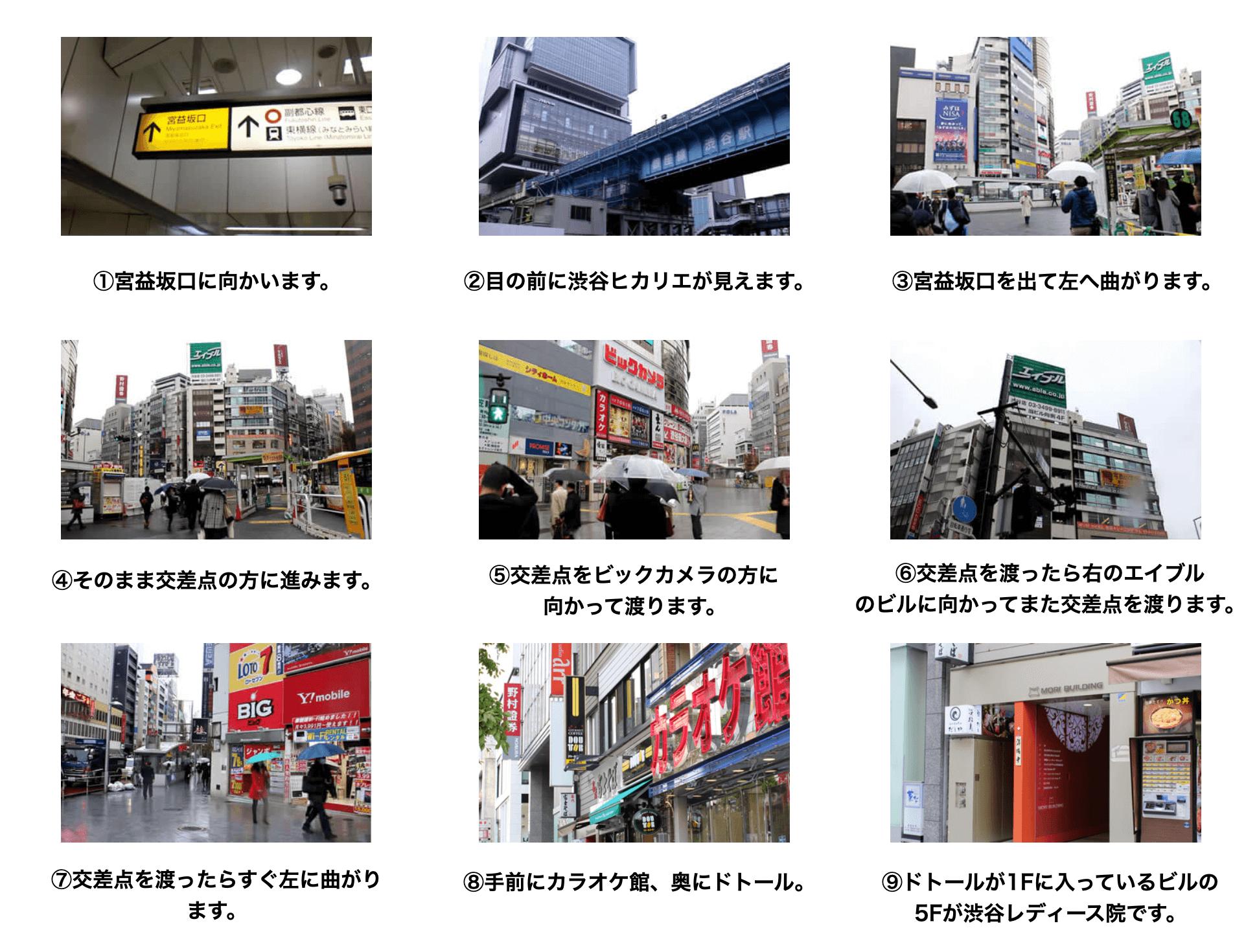 AGAスキンクリニック 渋谷レディース院に迷わず辿り着くための完全MAP