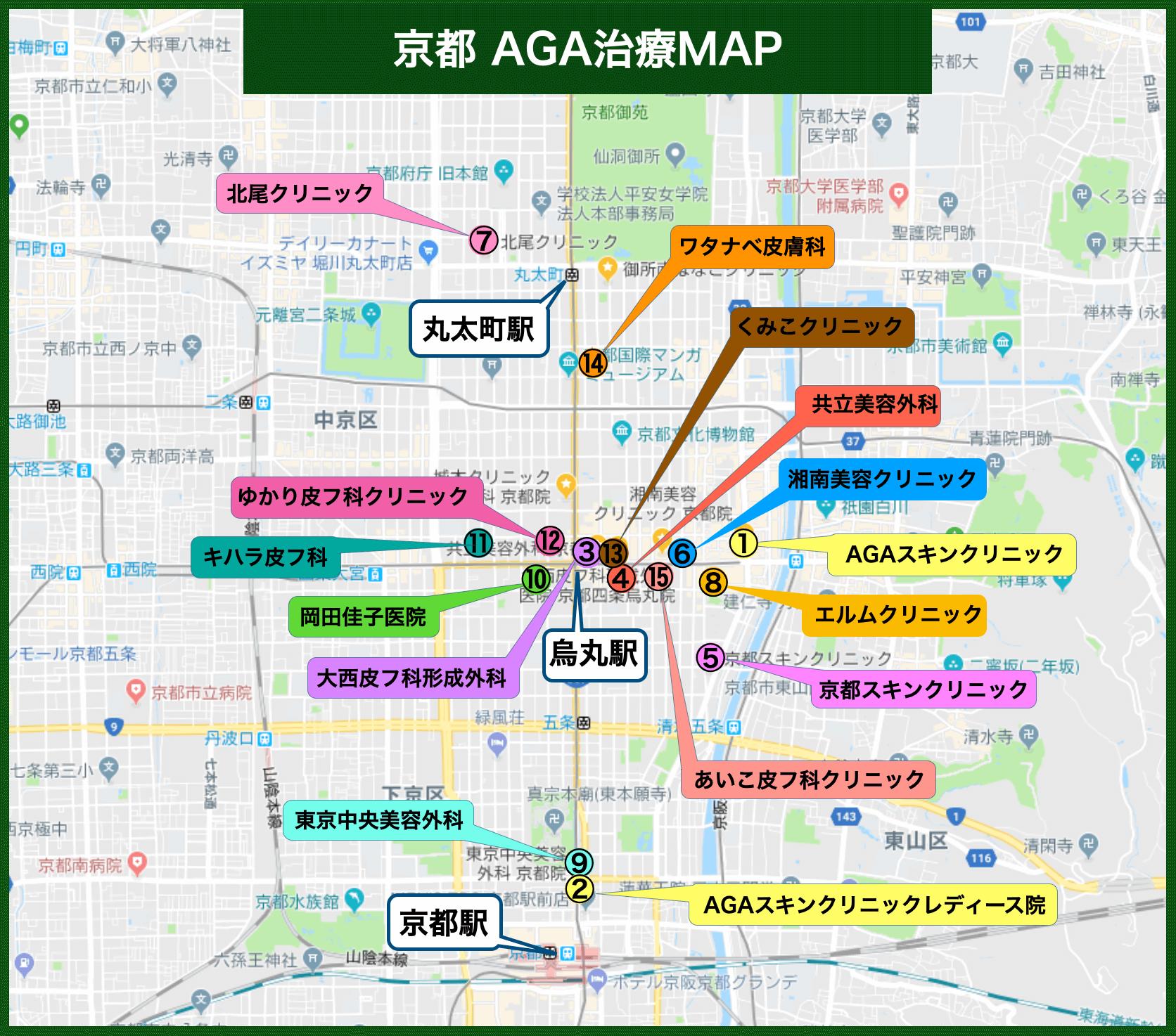 京都 AGA治療MAP