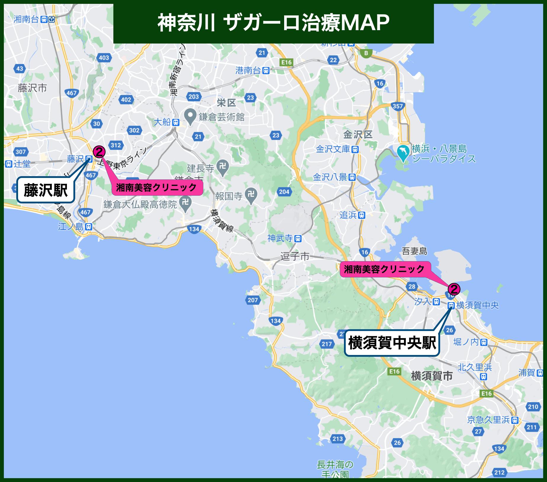 神奈川ザガーロ治療MAP